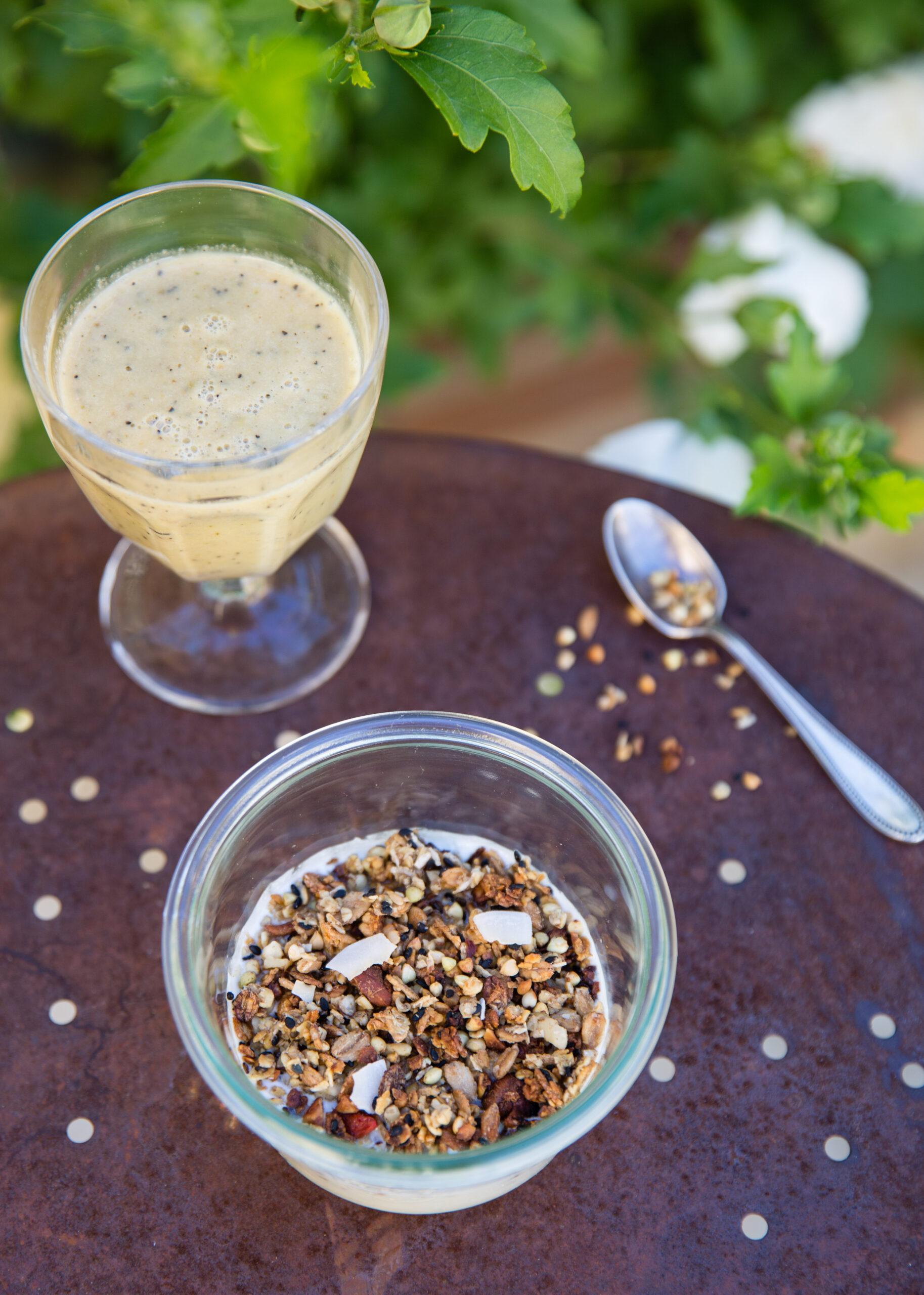 Granola et lait d'amande maison