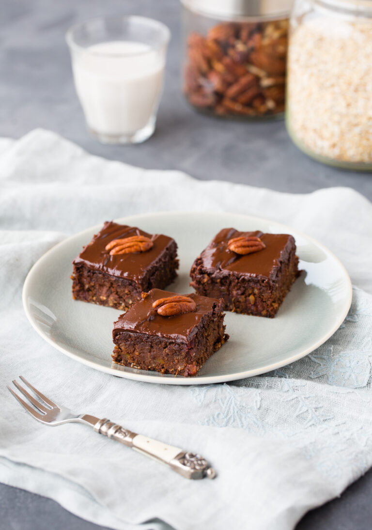 Brownie à la patate douce, glaçage cacao