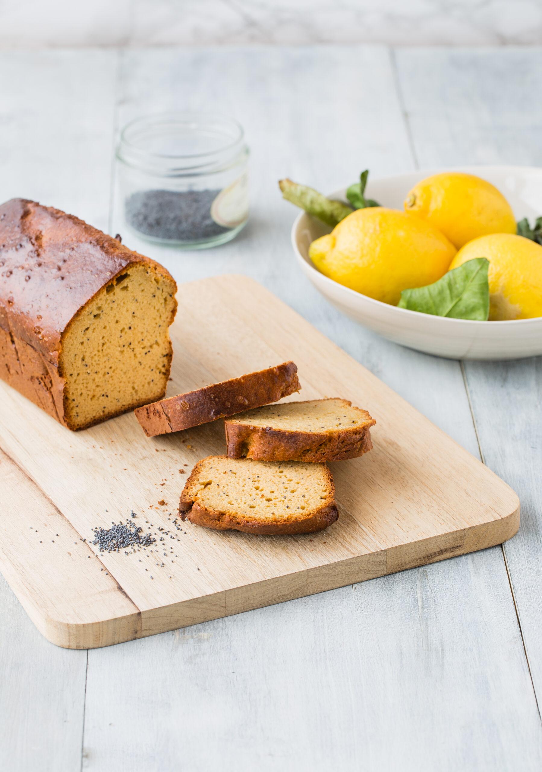 Cake citron, pavot