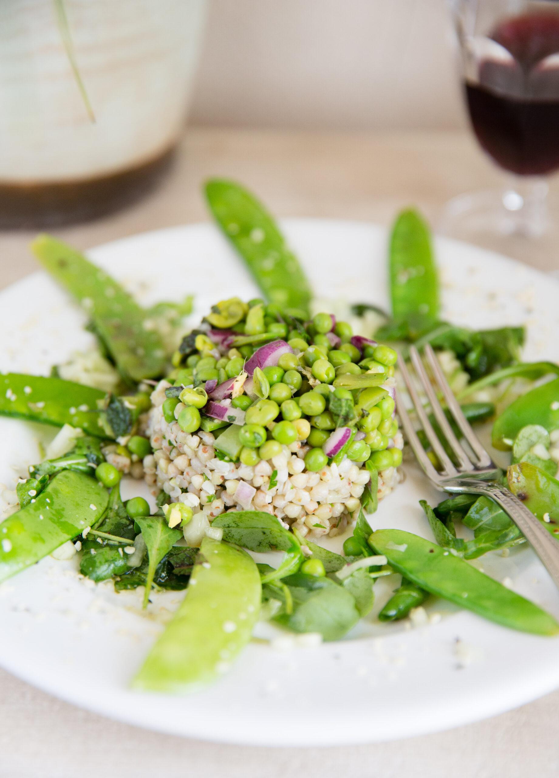 Sarrasin aux légumes verts , sauce raita aux cajou
